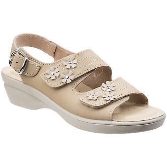 Fleet & Foster Womens/Ladies Amaretto Touch Fastening Leather Sandals