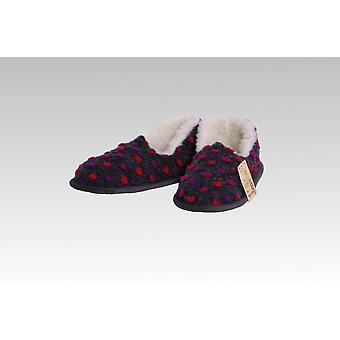 Mocassin wol dots antraciet 40/41