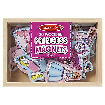 Melissa & Doug 20 Wooden Princess Magnets in a Box
