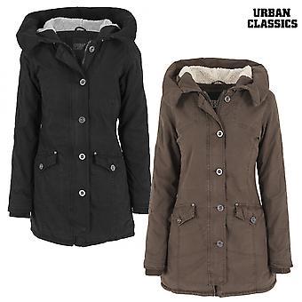 Urban classics ladies garment washed long parka