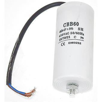 Uniwersalne 40UF kondensatora z 22cm kabel złącza