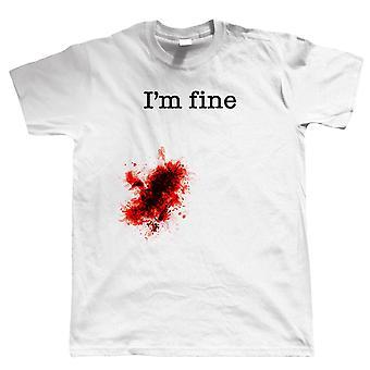 I'm Fine, Mens Funny Wound T Shirt
