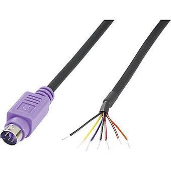 BKL 0204097 electrónico Mini DIN conector, recta número de pines: 6 violeta 1 PC