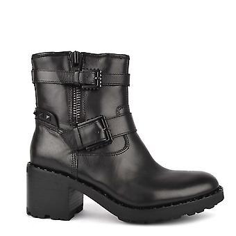 Ash Footwear Xenon Black Leather Heeled Boot
