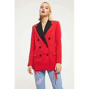 Jovonna Double Breasted Blazer With Contrast Lapel
