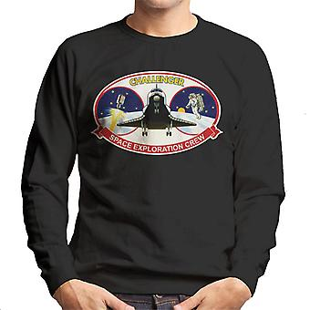 NASA STS 41B Challenger Mission Patch Men's Sweatshirt