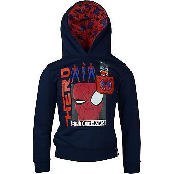 Boys HQ1426 Marvel Spiderman Hooded Sweatshirt Size: 3-8 Years
