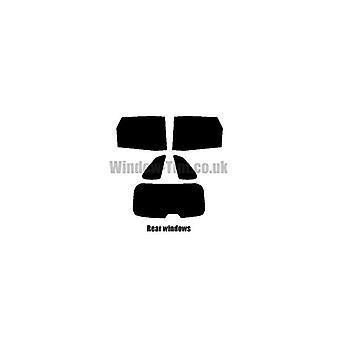 Pre cut window tint - Citroen C4 Picasso - 2006 to 2013 - Rear windows