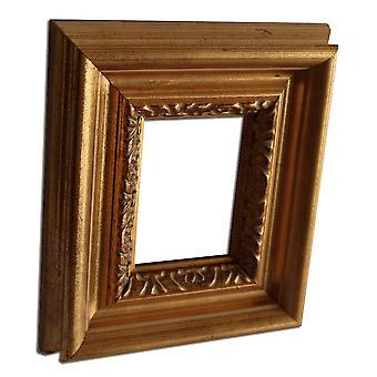 10x13 cm eller 4x5 tum, fotoram i guld