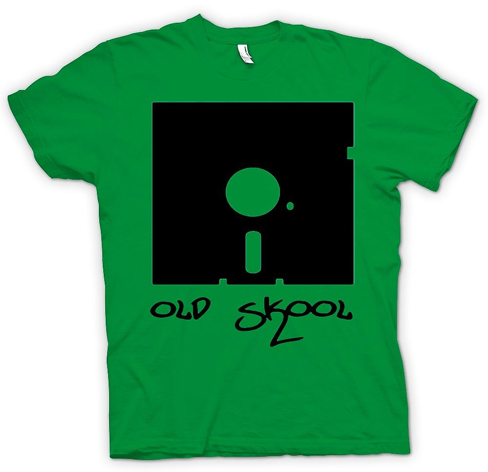 Mens T-shirt - Old Skool Floppy Disc - Funny