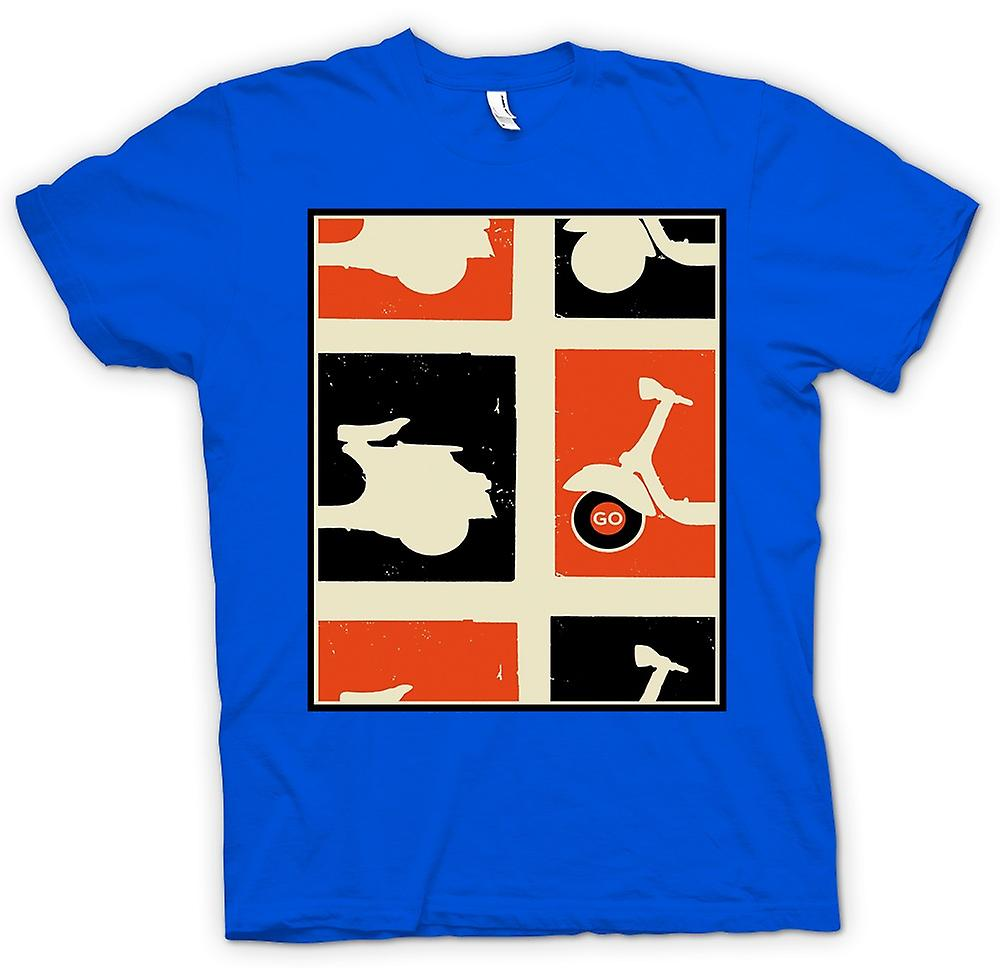 Heren T-shirt - Vespa Scooter - Pop-Art Poster gaan