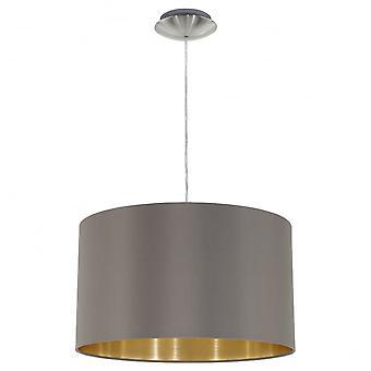 Eglo MASERLO Modern Matt Grey And Gold Shade Ceiling Pendant