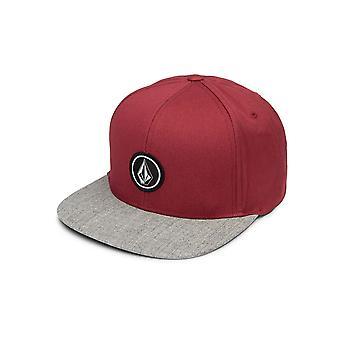 Volcom Men's Cap ~ Quarter Twill burgundy