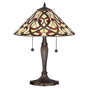 Ruban medio estilo Tiffany lámpara de mesa - interiores 1900 64321