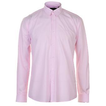 Pierre Cardin Mens Yarn Dye Long Sleeve Shirt Casual Top Button Regular