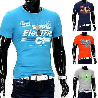 Men Summer T-Shirt Polo Stretch Slim fit shirt Clubwear Glo-Story