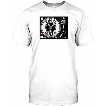 Vinyl Rules - DJ-Mixing Deck Kinder T Shirt