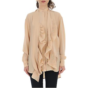 Givenchy Nude Silk Blouse
