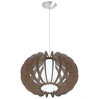 Eglo Stellato Quirky Open Wooden Sphere Shade Ceiling Pendant