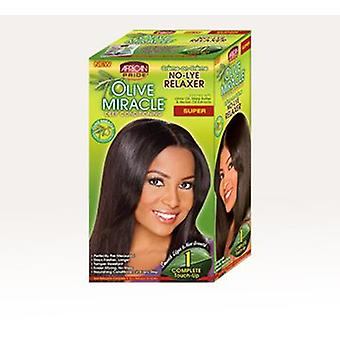 African Pride Olive Miracle Deep Conditioning Relaxer Kit Super 1Touch Up