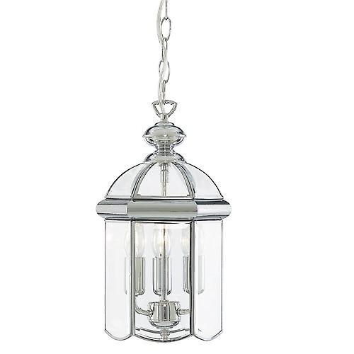Searchlight 5133CC Lanterns Bevelled Domed Chrome Finish 3 Light lantern