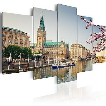 Canvas Print - Spring in Hamburg
