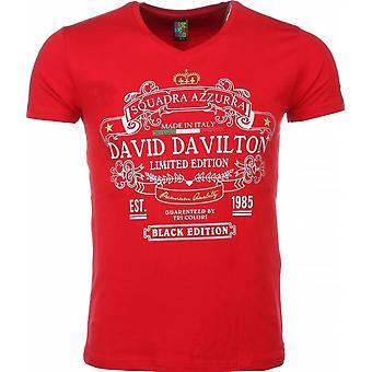 T-shirt-Black Edition Print-Red