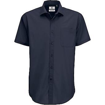 B&C Collection - B&C Smart Short Sleeve - Work Business Shirt Mens
