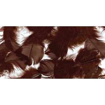 Turkey Plumage Feathers .5 Ounces Brown B710 Bn
