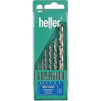 HSS Metal twist drill bit set 6-piece 2 mm, 3 mm, 4 mm, 5 mm, 6 mm, 8 mm