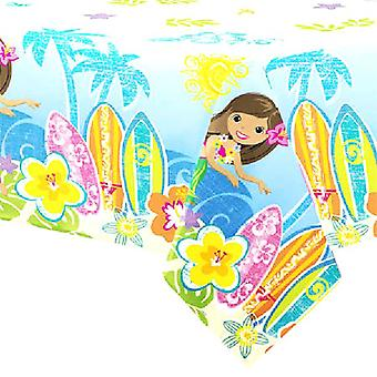 Luau Plastic Tablecover - 54x 84 inches