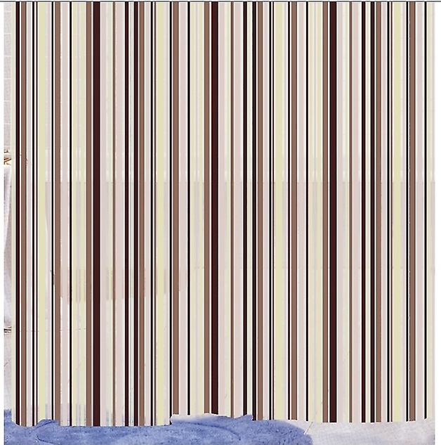 Cream Linear Stripe Peva Shower Curtain 180 X 180cm