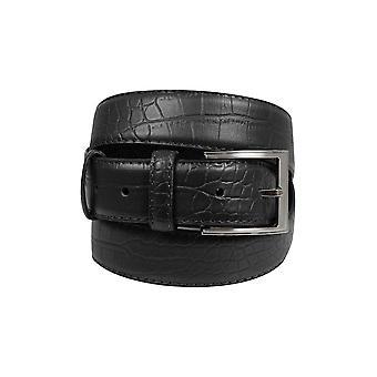 BadRhino schwarz strukturiert gebundenen Ledergürtel