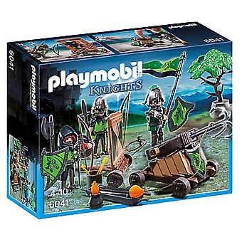 Playmobil Loup Chevaliers Avec Catapult