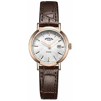 Rotary Womans Brown Leather Strap Silver Dial LS05304/02 Watch