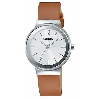 Lorus Womens Brown Leather Strap Silver Dial RG249LX9 Watch