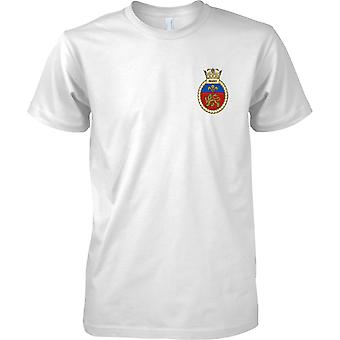HMS Mersey - actual buque de la Armada Real t-shirt color