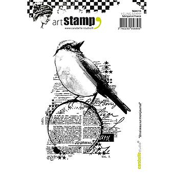 Carabelle Studio Cling Stamp A6-A Bird On My Diary SA60213