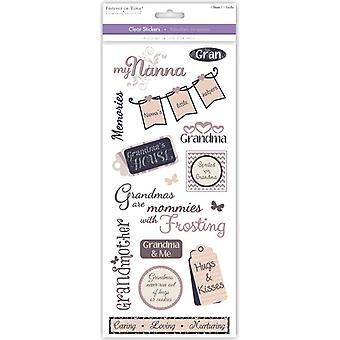 MultiCraft Family & Friends Clear Stickers-Grandmother SS495G