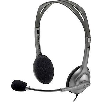 PC headset 3.5 mm jack Stereo, Corded Logitech H111 On-ear Grey