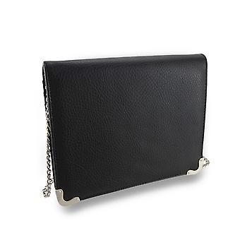 Getextureerde vouwen avond Clutch Wallet w/verwisselbare schouder riem
