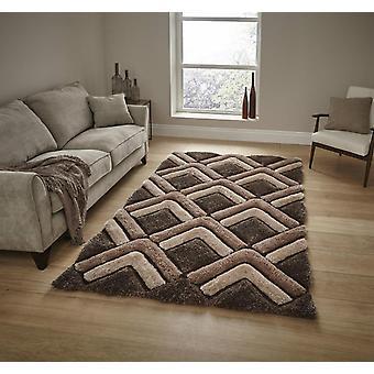 Shaggy - adellijke huis 8199 Brown rechthoek tapijten Plain/bijna gewoon tapijten