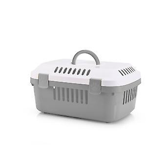Discovery kompakta små djur Carrier vit och kall grå 48.5x33x23.5cm (4-Pack)