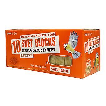 Oksetalg gå blokke Mealworm & insekt værdi 10 Pack
