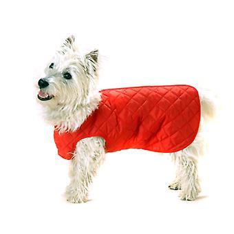 Quiltet trin-suit rød 60 cm (24