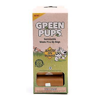 Tasker på bestyrelsen grønne Pups Refill rulle 120 tasker (8 x 15)