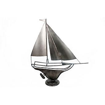 50X57cm Metal Sailing Boat Ideal Ornament For Public House Bar Restaurant