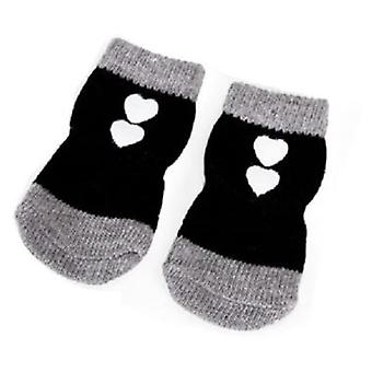 Camon Socks With Hearts Ne gro Size S (Chiens , Vêtements pour chiens , Chaussures)