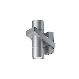 Ansell Corvus 2 X 35W GU10 Brushed Aluminium