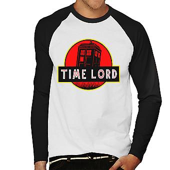 Dr Who Jurassic Park Time Lord Men's Baseball Long Sleeved T-Shirt